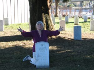 2015 Frances at Johnny's cemetery