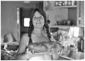 Frances enticing with Hot Loaves on Tedoc Mountain, CA, 1981
