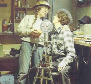 Bingo robot being born, 1983
