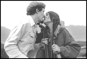 Tim and Frances almost kiss, with strings , 1979